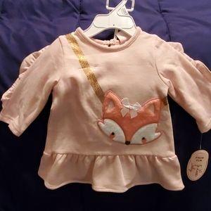 Little Lass Baby long sleeve dress sz 3/6mths nwt